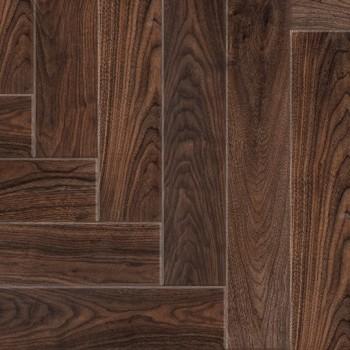 Laminate Wood Floors: Walnut Herringbone