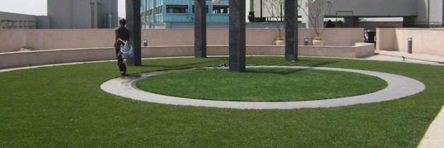 Synthetic Grass at AIIMS Hospital - Eco Friendly Artificial Turf Flooring by Square Foot