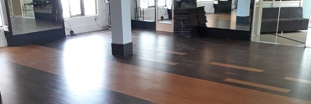 KS Gym - Walnut Laminate Flooring