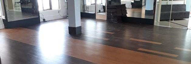 KS Gym - Walnut Laminate Flooring