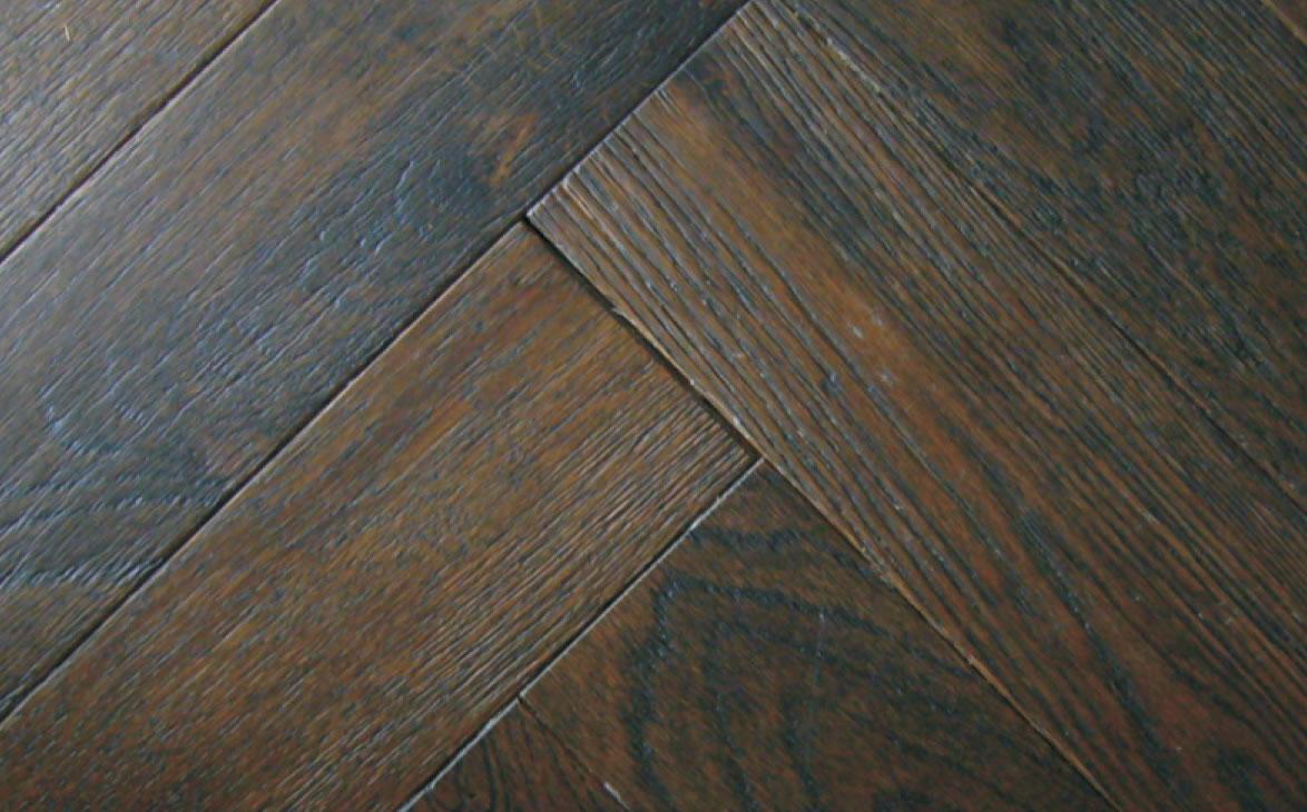 Buy Best Herringbone Oak Coffee Textured Solid Wood